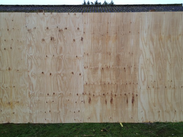 Timber Site Hording Fencing