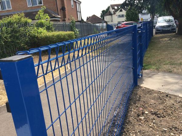 Roll top mesh panel fencing romford essex