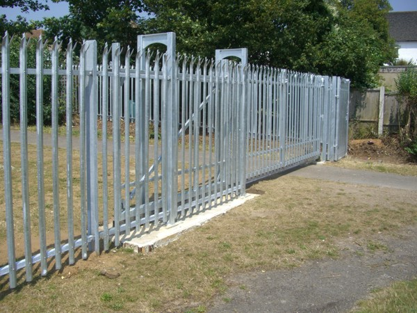 Palisade Sliding Gate, Security Fencing Aveley, Industrial Fencing